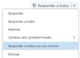 Responder con una reunión en Outlook.com