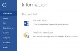 Restaurar versiones anteriores en OneDrive