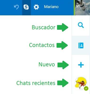 Secciones del nuevo Skype para Outlook.com