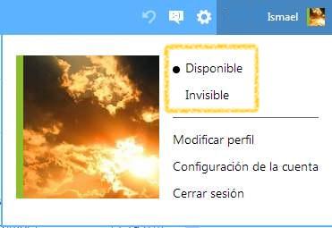 Ser invisible en el chat de Outlook.com