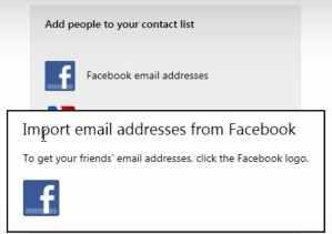 Sincronización entre Facebook y Outlook.com