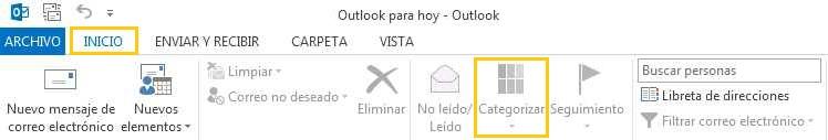 Sincronizar las categorías de Outlook.com en Outlook 2013