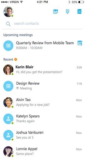 Skype for Business para iOS