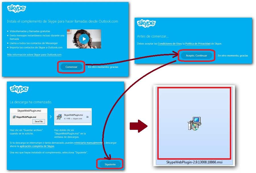 Skype para navegador