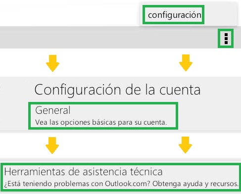 Solicitar soporte técnico desde Outlook.com para Android