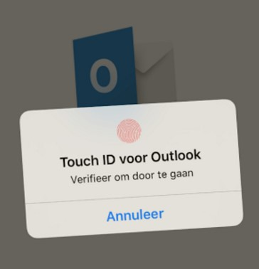 Touch ID en Outlook para iOS