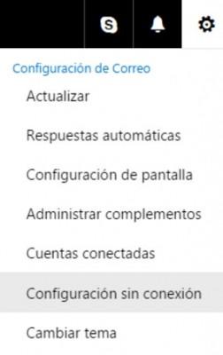 Trabajar sin conexión en Outlook.com