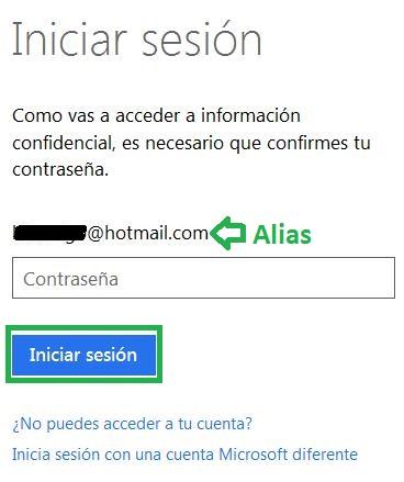 Utilizar un alias para iniciar sesión