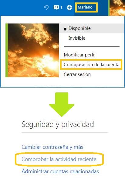 Verificar sí utilizaron tu cuenta de Outlook.com