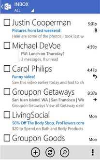 Version actual de Outlook para Android
