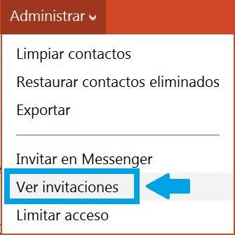 Visualizar las invitaciones pendientes de Messenger