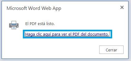 Word a PDF en OneDrive