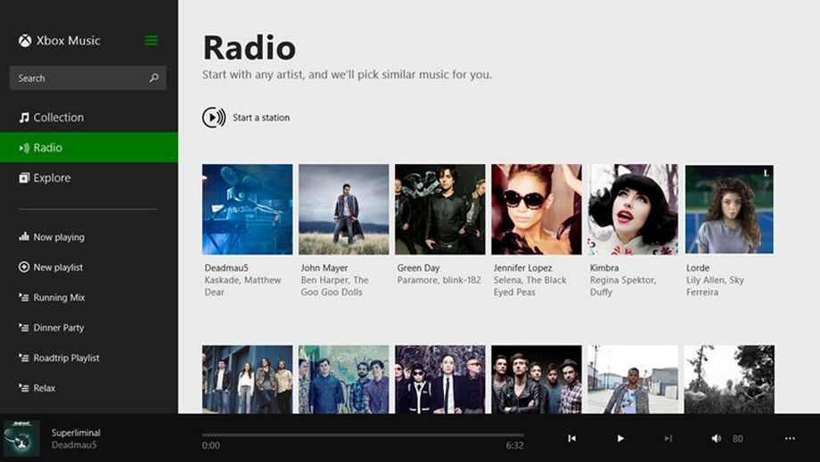 Xbox Music para Windows 8.1