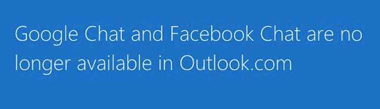 chat de Google y Facebook en outlook.com