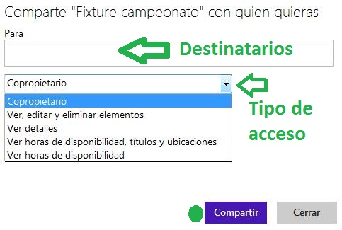 compartir un calendario en Outlook.com