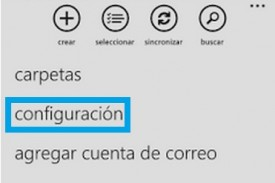 configuracion en outlook para windows phone