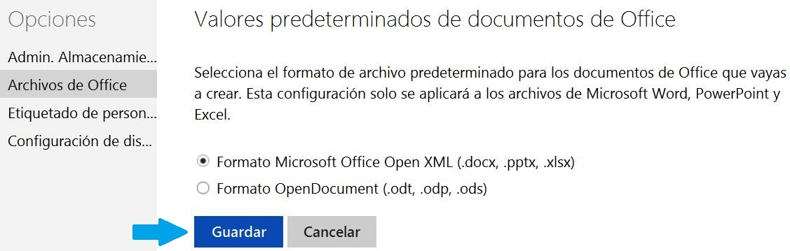 formato OpenDocument en SkyDrive