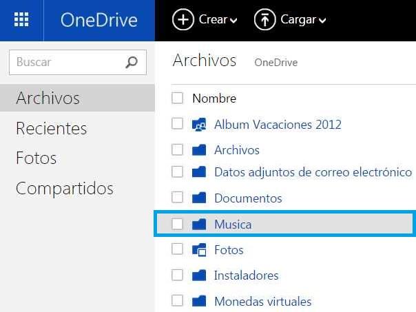 música OneDrive