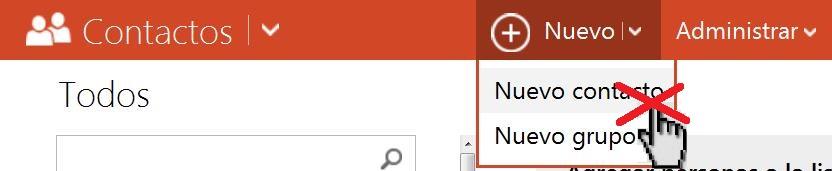 número máximo de contactos en Outlook.com