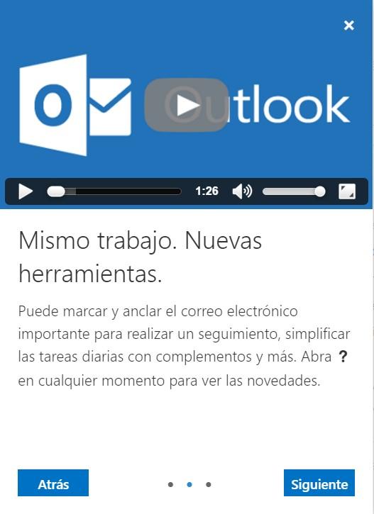 nueva versión de Outlook.com