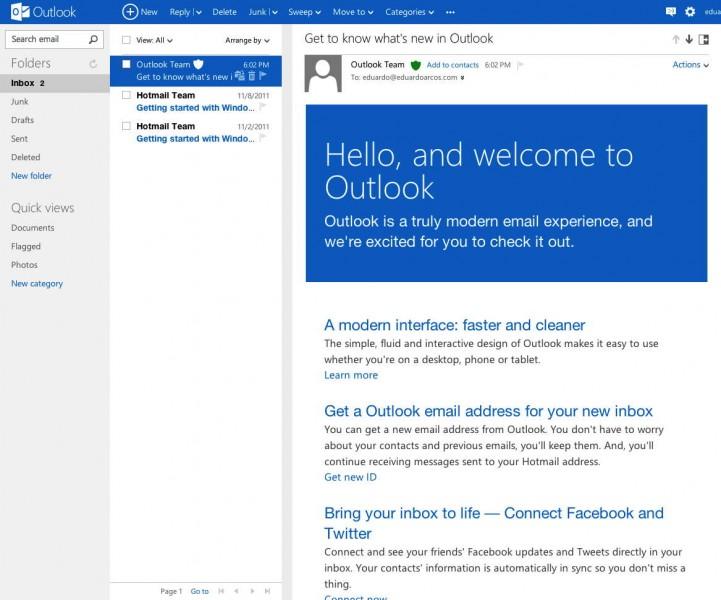 outlook.com-bienvenido