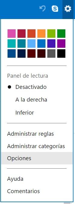 pasos para bloquear a alguien en Outlook.com