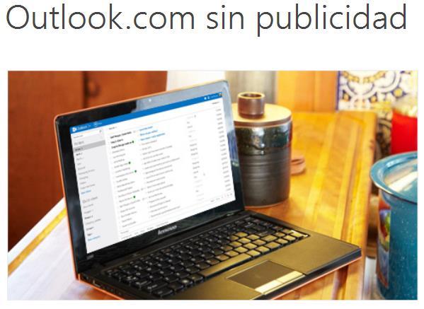 quitar la publicidad de Outlook
