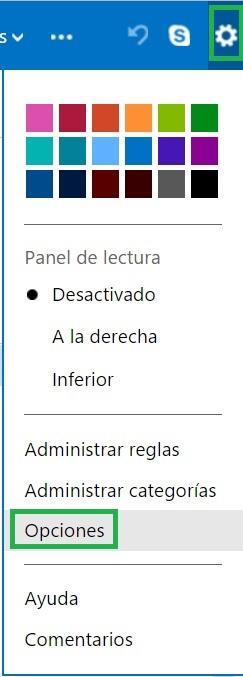 respuestas automáticas en Outlook.com