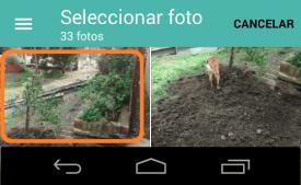 seleccionar archivos a enviar en outlook para android