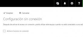 sin conexión en Outlook.com
