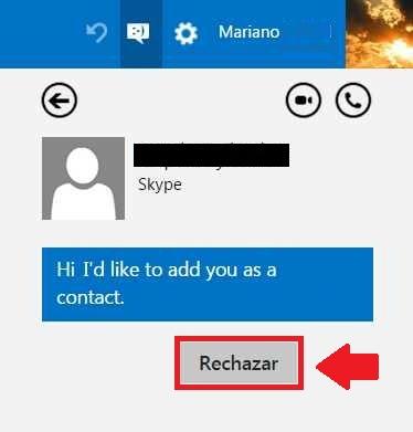 solicitudes de contactos en Skype para Outlook.com