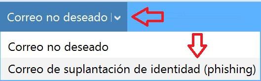 suplantación de identidad en Outlook.com