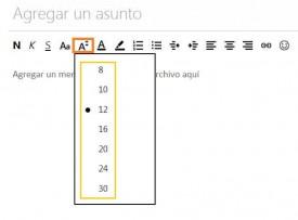 tutorial para modificar el tamaño de la letra